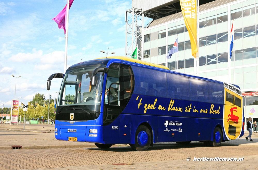 Team En Spelers Bussen 2019 2020 Spelers Bussen Sc Cambuur Man Lion Coach S Bertie Willemsen Touringcarfoto S